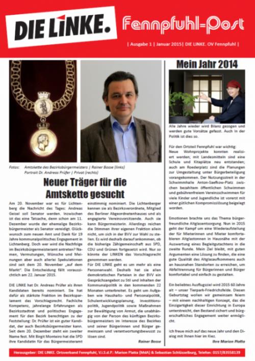 Erste Ausgabe Front